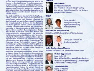 Vortrag zu Digitaliesierung 2.0 im Vermessungswesen