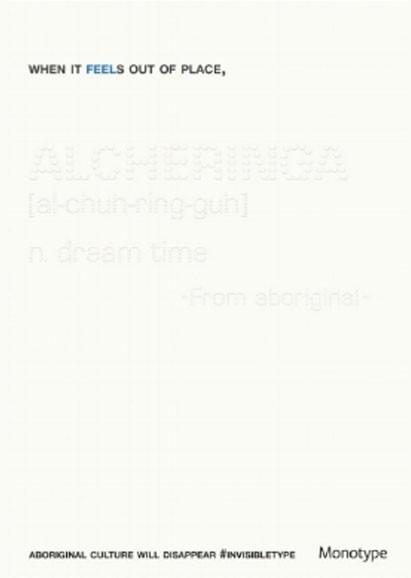 ALCHERINGA [al-chuh-ring-guh] n. dream time -From Aboringinal
