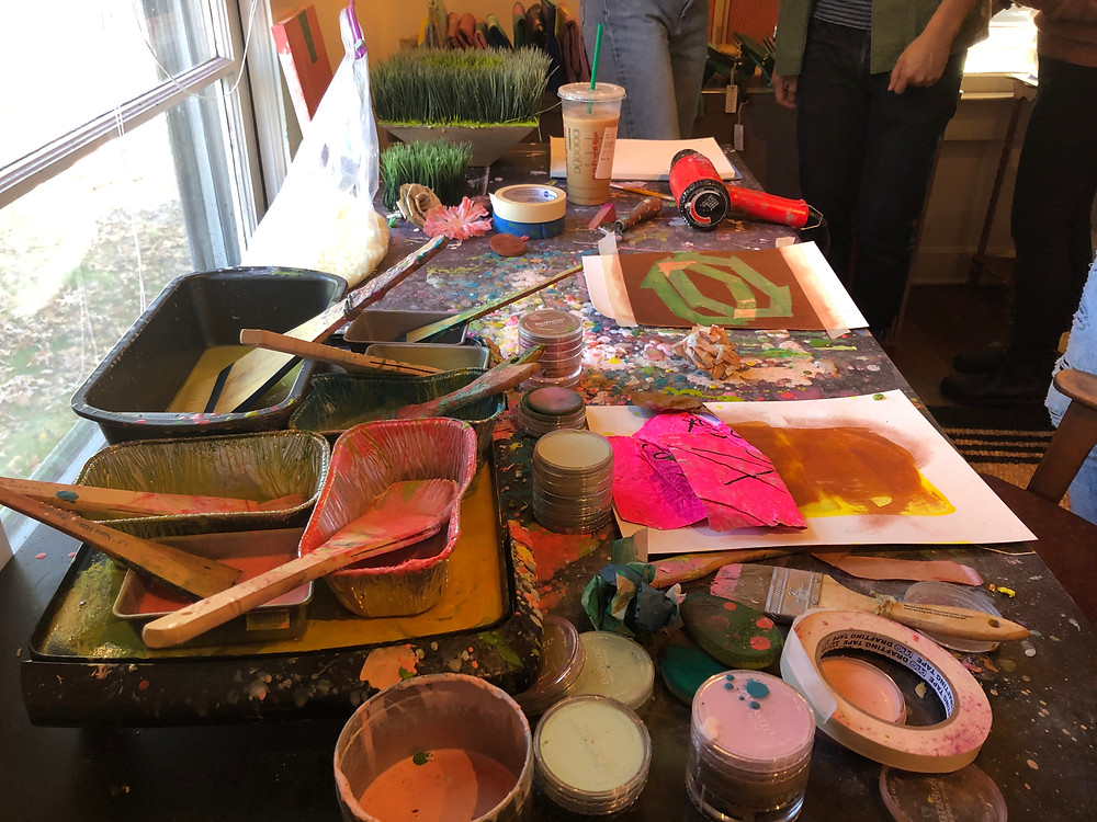 2019 studio visit during Metropolitan Arts Council's annual Open Studios Weekend