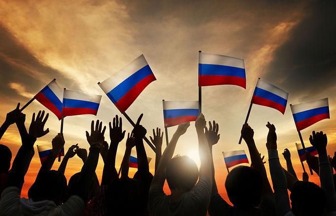 Waving the Russian Flag