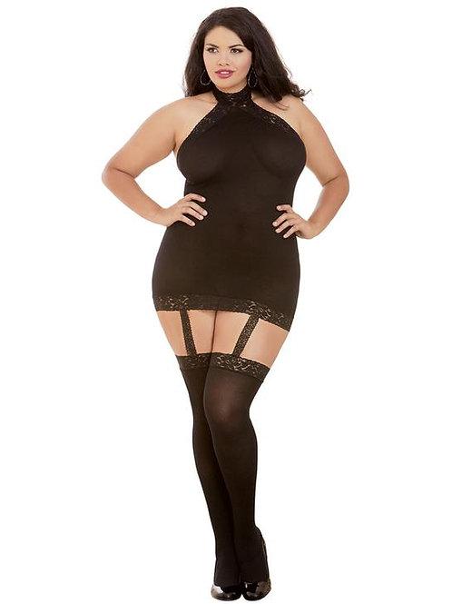 Dreamgirl Semi-sheer Garter Dress