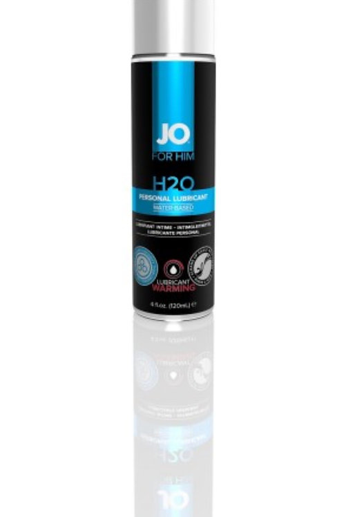 JO for MEN H2O Lubricant- Warming (4oz/120ml)