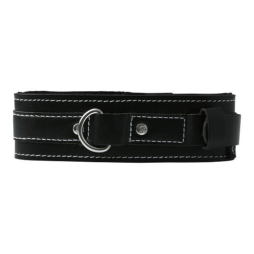 'Edge' Lined Leather Collar
