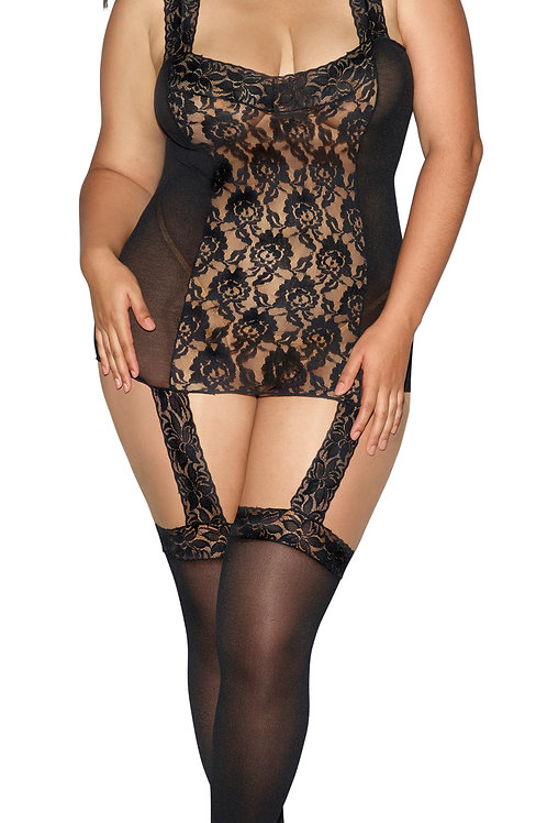 Dreamgirl Stretch Garter Dress