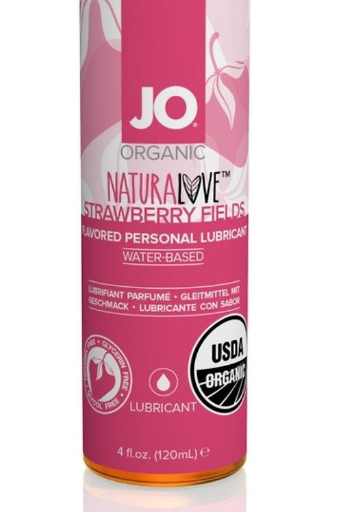 JO Organic Flavoured Lubricant - Strawberry (4oz/120ml)