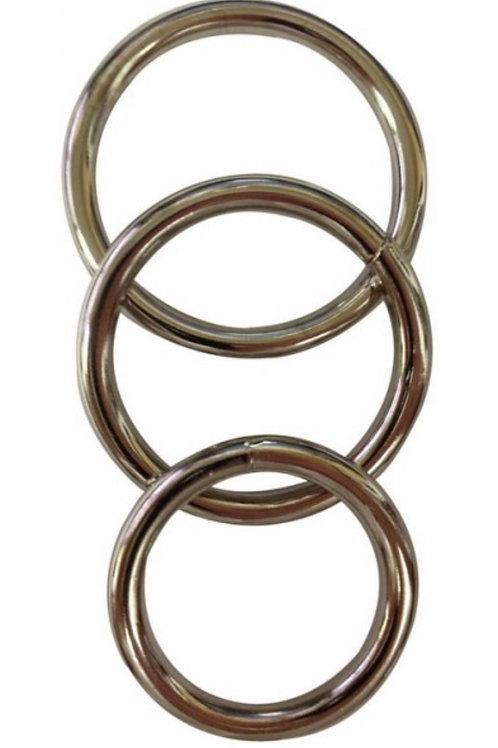 'Edge' Metal O Ring 3 pack