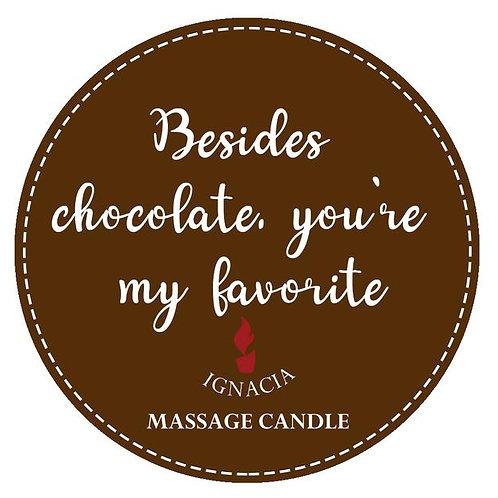 Ignacia Massage Candle - Chocolate & Coffee Cream