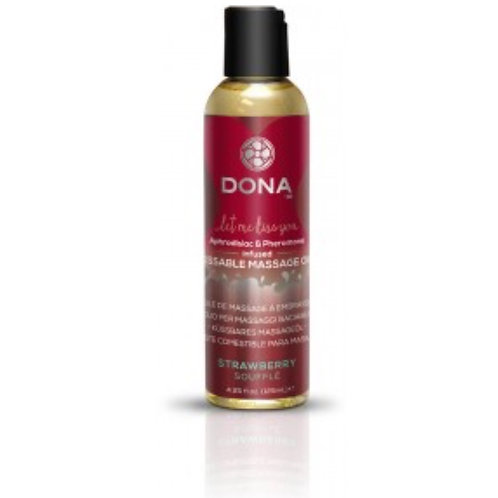 Dona by JO Kissable Massage Oil - Strawberry (4.25oz/125ml)