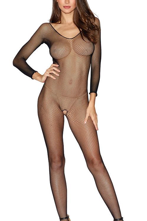 Dreamgirl Long-sleeve Fishnet Bodystocking