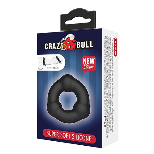 Crazy Bull Ribbed Silicone Ring