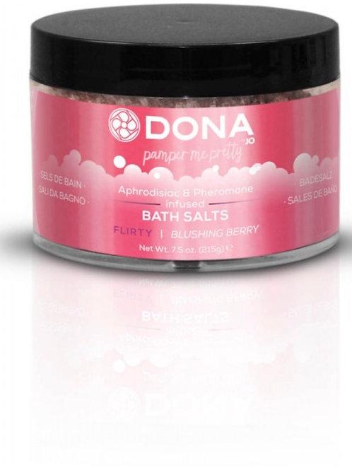 "Dona by JO Bath Salts - Blushing Berry ""Flirty"" (7.5oz/215g)"