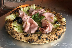 The pizza Mortadella cooked in our _pizz