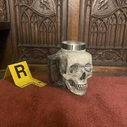Skull Mug (Bone/with Jaw)