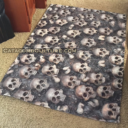 Catacomb Skull Canvas Rug