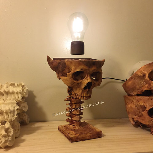 Levitation Bulb Skull Lamp