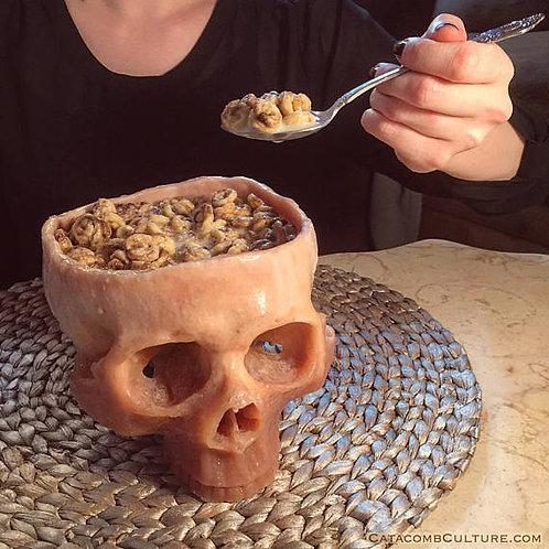 Human Skull Bowl