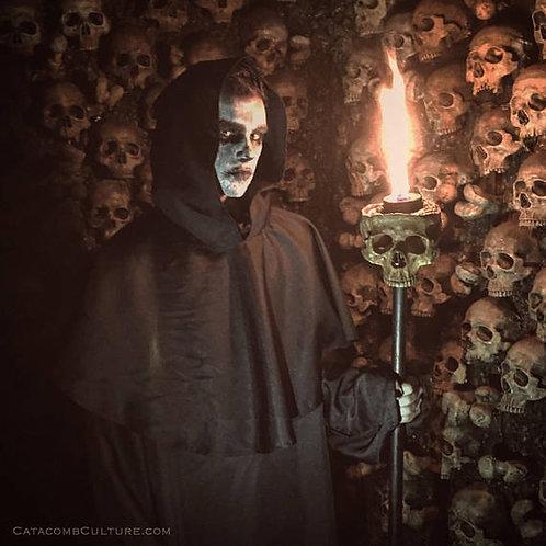 Human Skull Torch