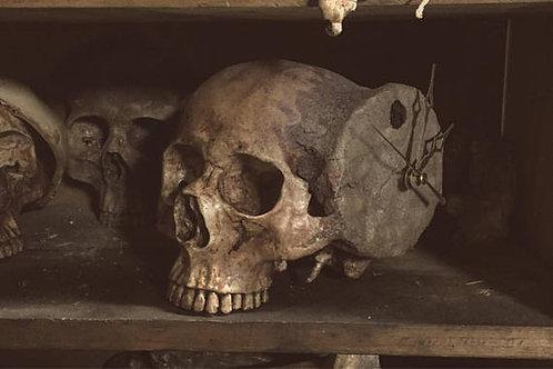 Human Skull Clock