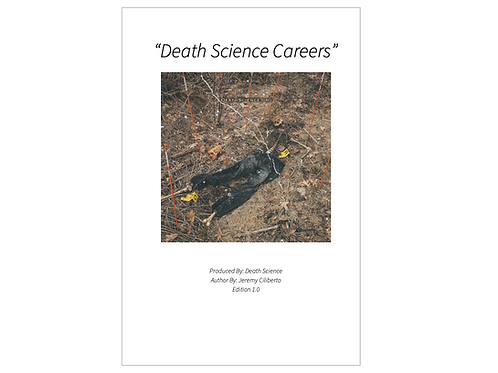 Death Science Career Booklet
