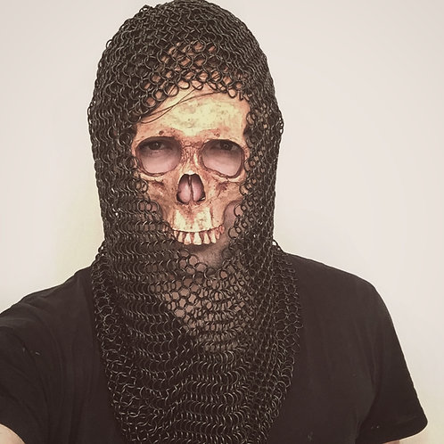 Black Chainmail Hood