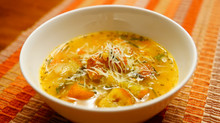 Garlic-Lovers' Tuscan Bean Soup with Freshly-Made Rosemary Croutons