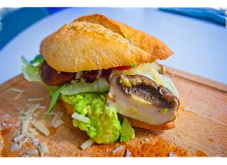 Portobello-Avocado Burger