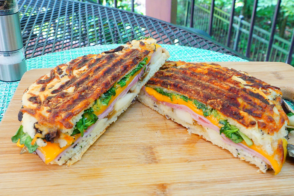 Ham and Pear Panini - Mostly Beige Recipes for Kids