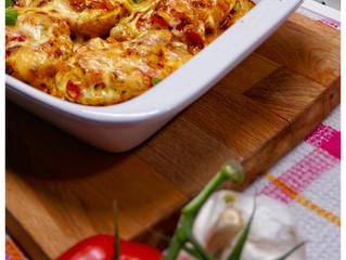 Lemon Potatoes with Tomato Salsa