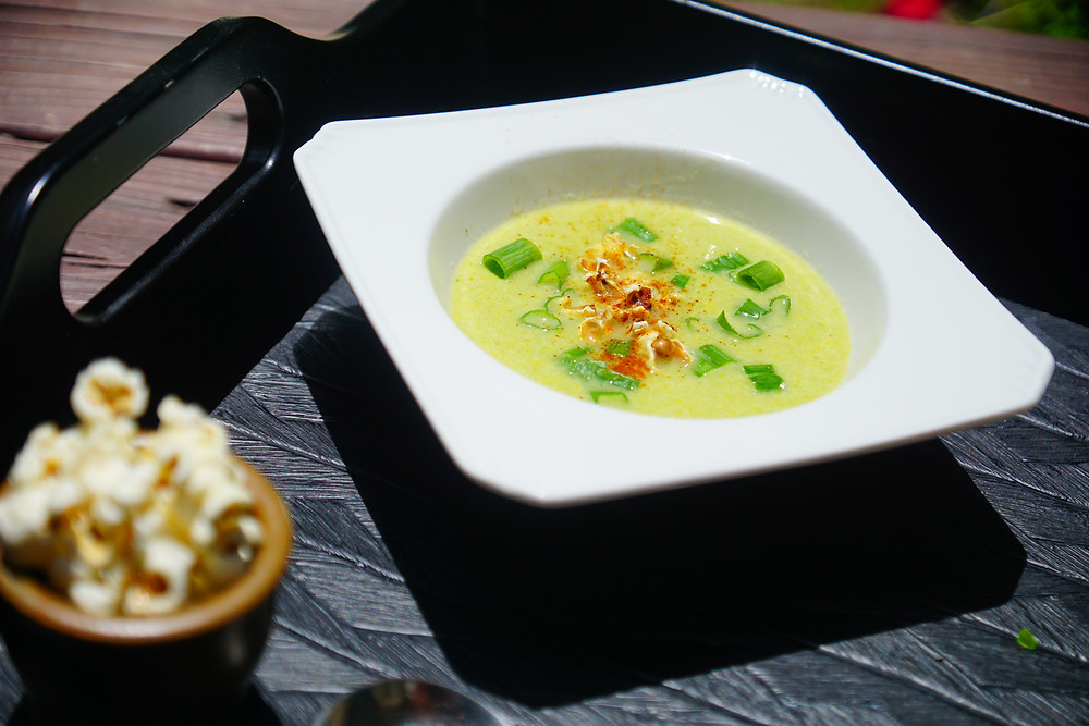 Parmesan-Corn Soup - Mostly Beige Recipes for kids