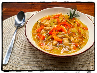 White Bean Soup with Roasted Peppers