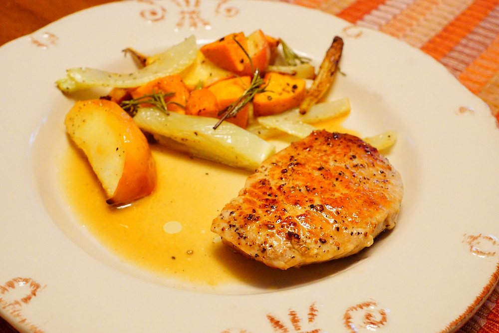 Dijon-Apple Pork Chops - Mostly Beige Recipes for Kids