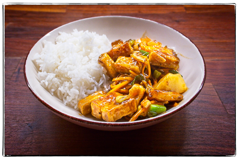 Crunchy Sweet and Spicy Tofu - Mostly Beige - Recipes for picky eaters