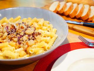 Rigatoni with Pear and Radicchio over Gorgonzola/Mascarpone Sauce