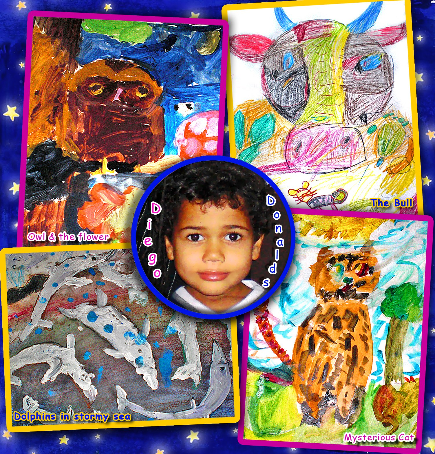 Diego's paintings when he was 4 y.o.
