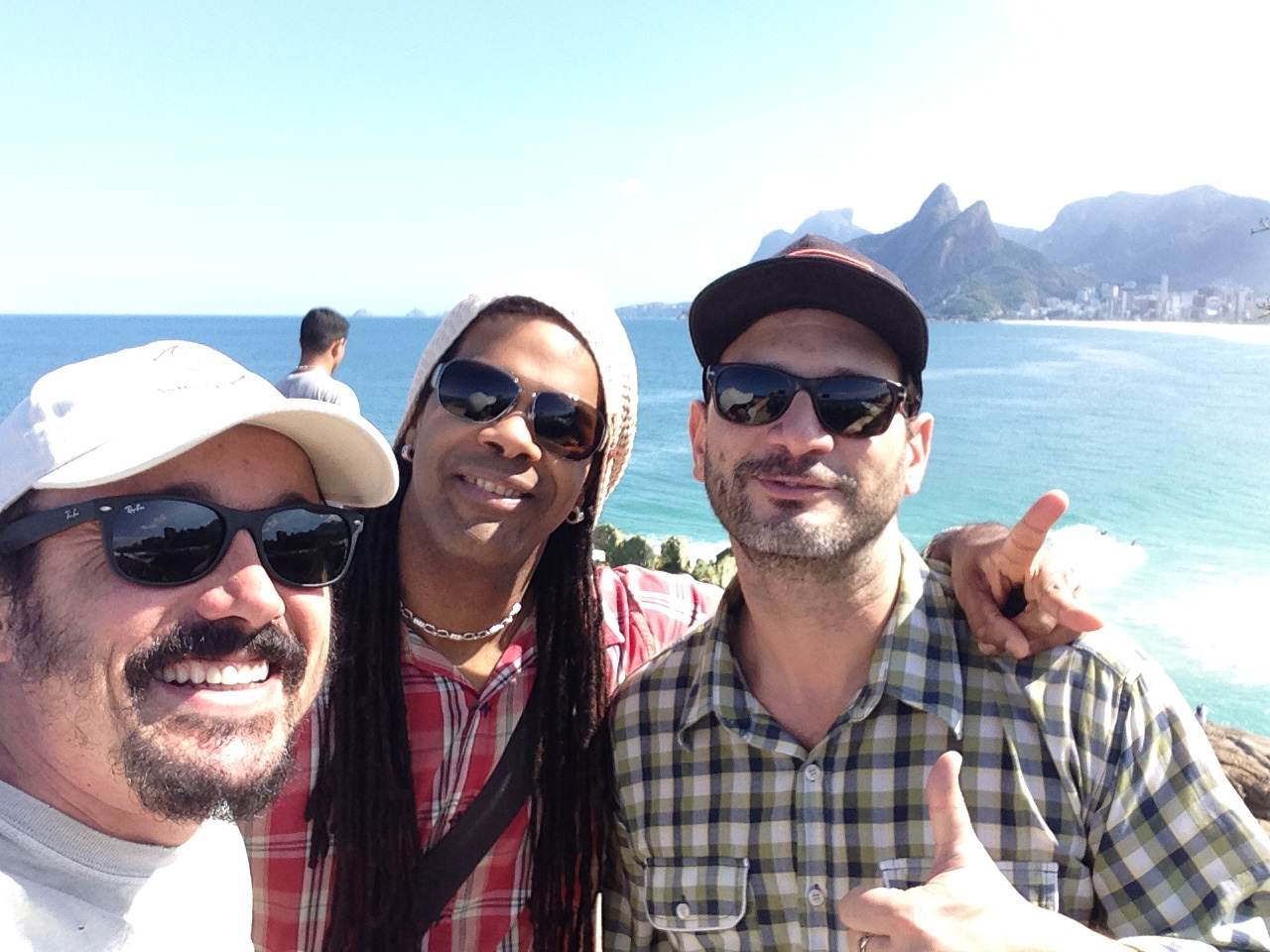 03 With Caio Junquiera & Andre Rebello, Copacabana, Rio 2014