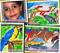 Diego's paintings when he was 5 y.o.