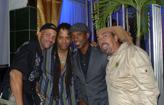Andru Donalds with 'Cat' Coore & Norris Webb of 'Third World' band & Dana Hue Jarrette