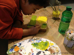 Diego painting when he was 6 y.o.