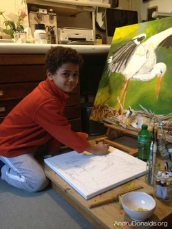 Diego painting when he was 6 y.o. (2)
