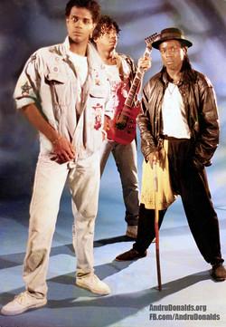 Andru Donalds, Andrew Simpson & Michael Irvine (Sagitarious band) London, 1990