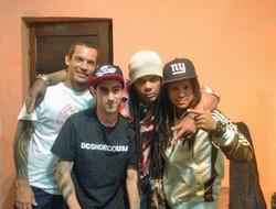 06 With AYAHUASCA (from left Pedro, Daniel & Yuri), 2014