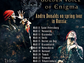 Andru Donalds on tour through Russia. March 2018