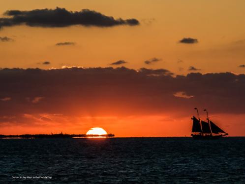 Sunset over Key West, Florida Keys
