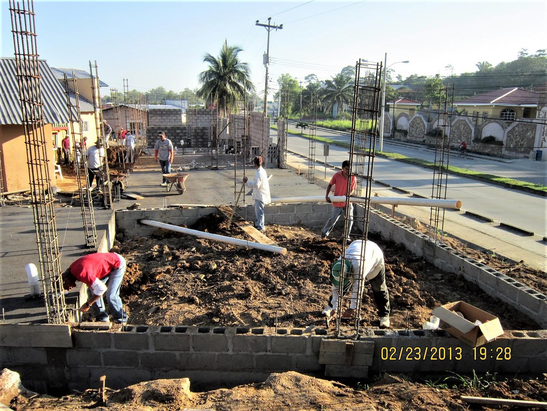 Building the Mary Frenter Bilingual School in Puerto Cortes - 2012