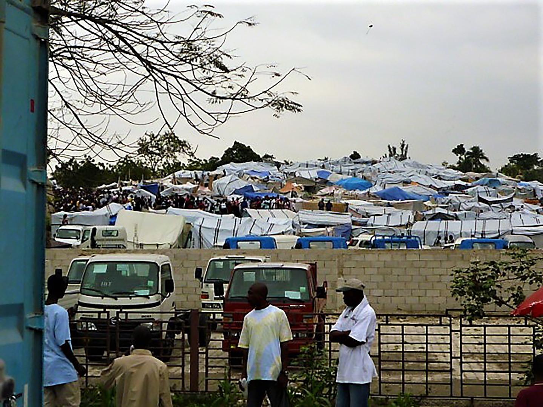 Tent camps in Haiti