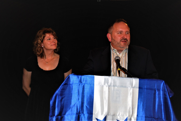 Lisa and Scott Closner emceeing one of the H2H annual banquets