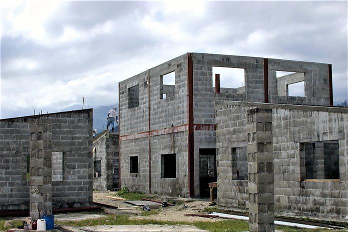 Boy's house under construction