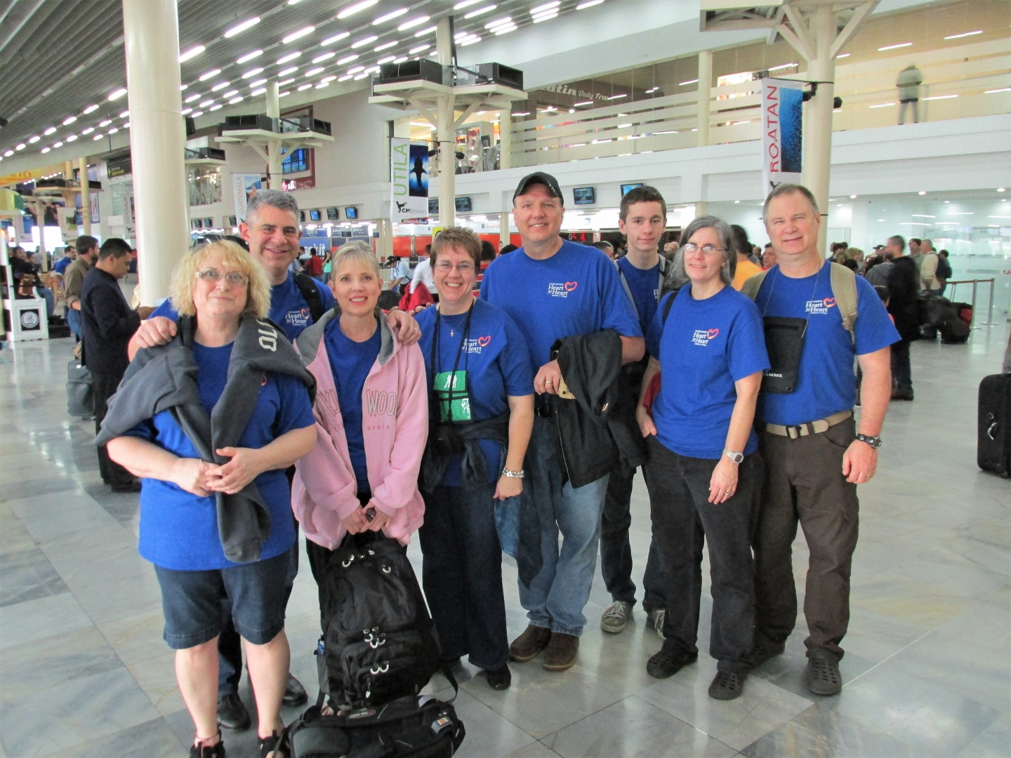 Women's Conference team at the San Pedro Sula airport