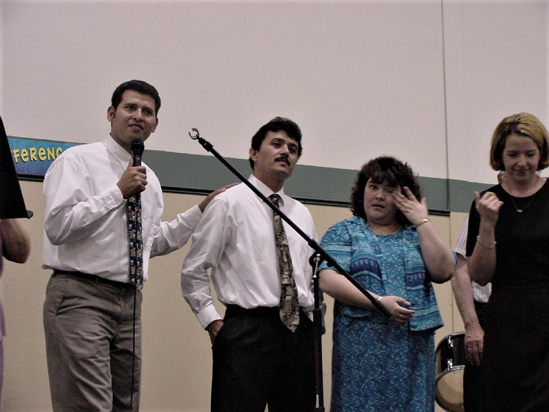 Oscar and Amy, and Pastor Tony and Claudia Anaya
