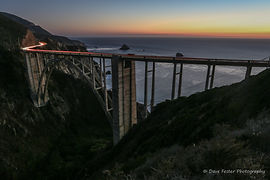Bixby Bridge at night, Landscape photographer, Dave Fester photography